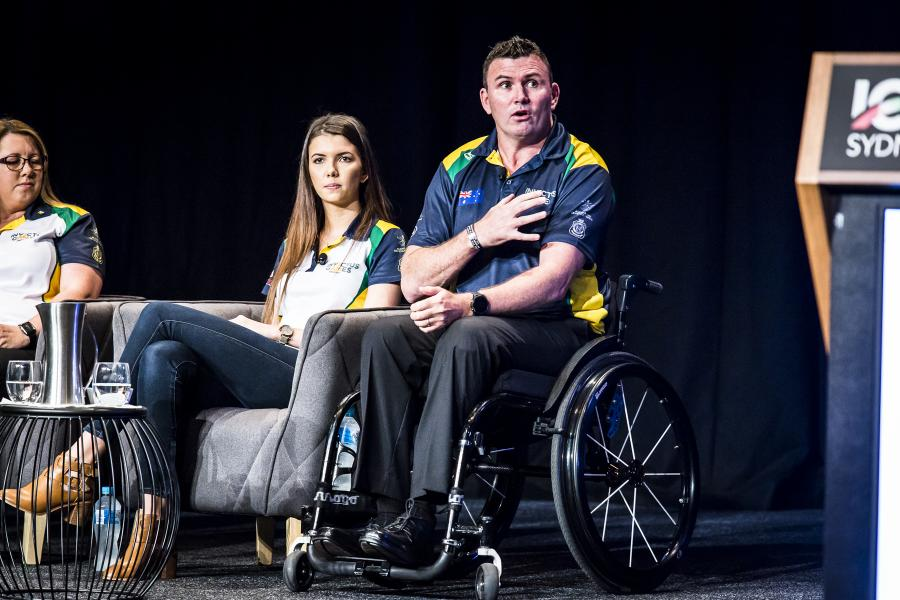 Invictus athletes at conference 2017