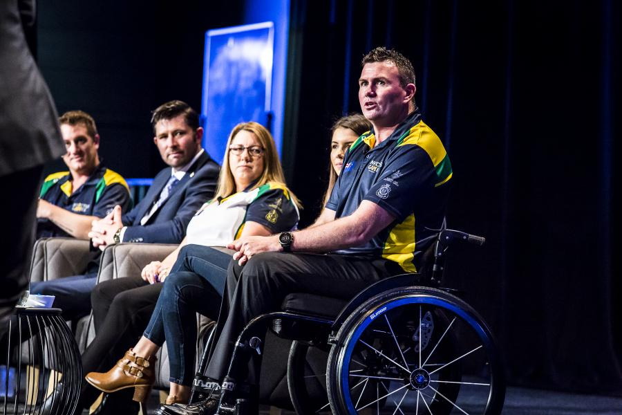 Invictus Games athletes at conference 2017